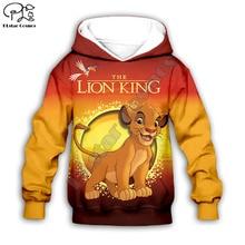 Simba The Lion King/толстовка с капюшоном для детей, толстовки на молнии с 3d принтом, топ с длинными рукавами для мальчиков и девочек, штаны, Прямая поставка