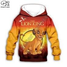 Simba The Lion King cartoon hoodie Kids baby 3D print zipper