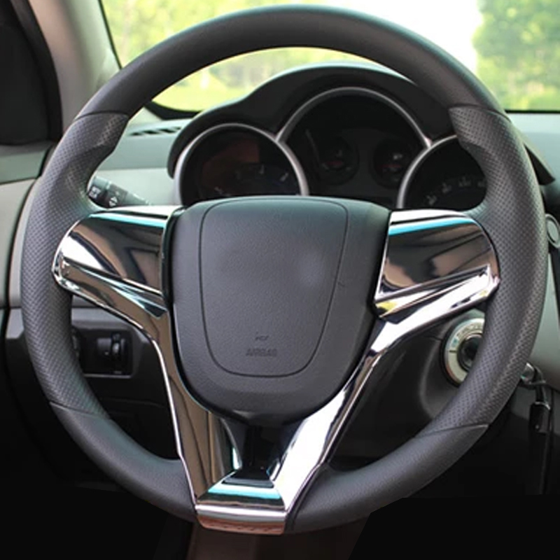 A Little Change Upgrade Car Steering Wheel Decoration Cover Trim Stickers for <font><b>Chevrolet</b></font> Chevry <font><b>Cruze</b></font> Sedan Hatchback <font><b>2009</b></font> - <font><b>2014</b></font> image