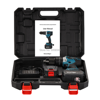 18V cordless impact drill 13mm brushless impact drill 18V impact drill screwdriver drill with two 4.0Ah batteries and a case drill impact zubr zdu 1100 2 ermm2