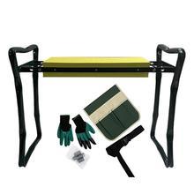 Folding Garden Kneeler And Seat With Bonus Multif Garden Kneeling Stool With 3 Bonus Tool Pouches Bearing Garden Kneeler Tool