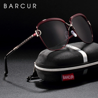 BARCUR New Fashion Sunglasses Women White Frame Gradient Polarized Sun Glasses Driving UV400 Eyewear with Update Box Free
