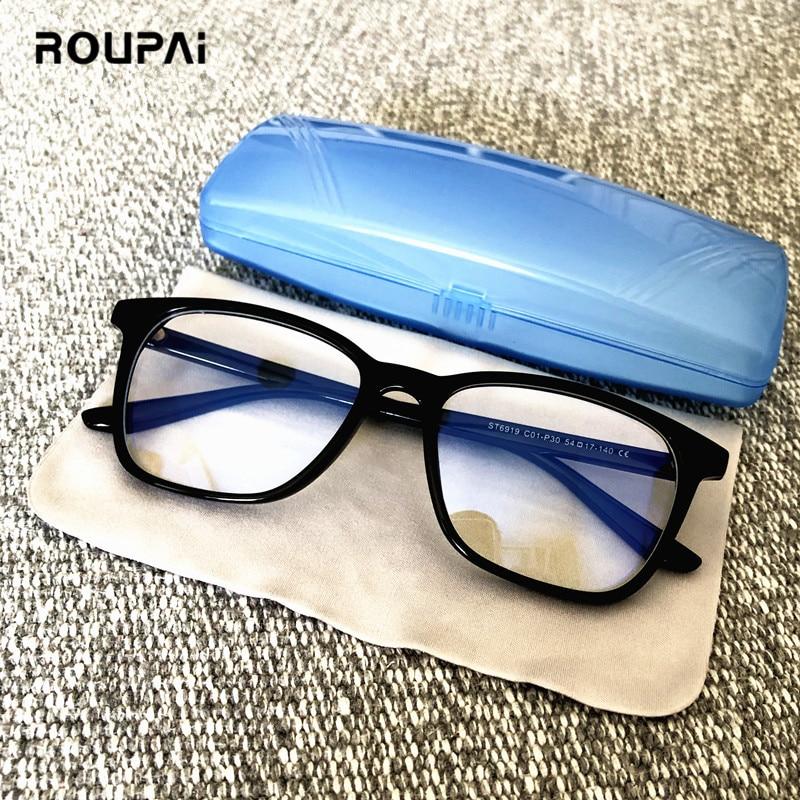 ROUPAI Anti Blue Light Ray Radiation Glasses For Computer Gaming Eyeglasses Men Women Blue Blocking Blocker Goggles Gafas Luz