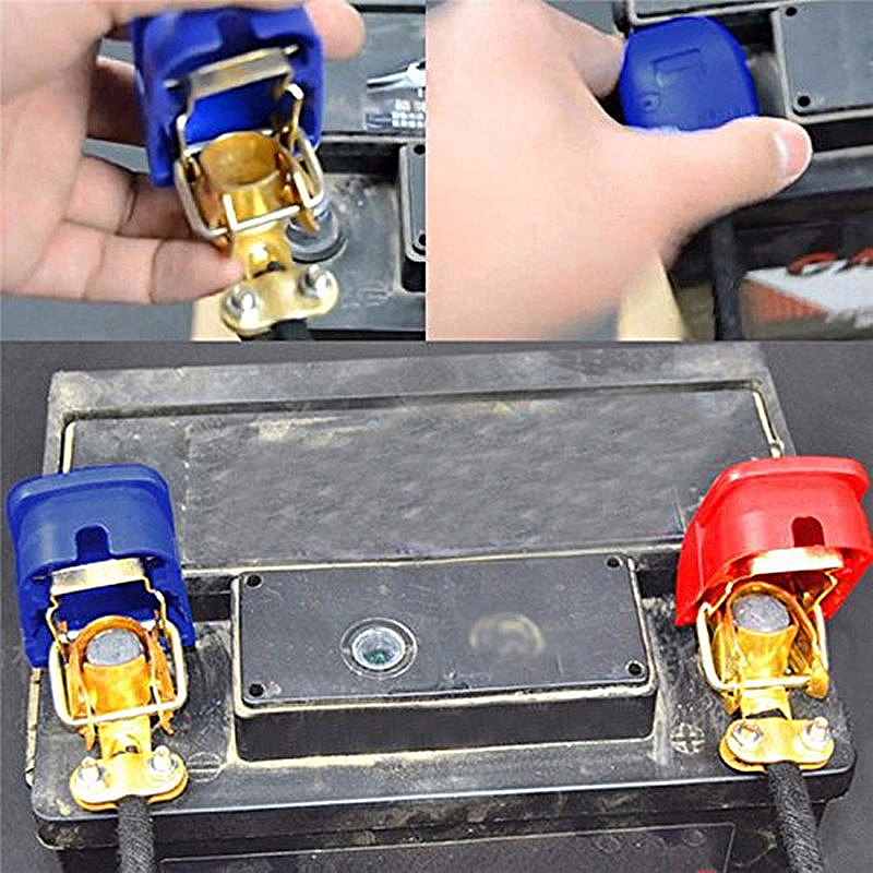 2Pcs 12V 퀵 릴리스 배터리 터미널 클램프 자동차 캐러밴 보트 트럭 오토바이 자동차 스타일링 자동차 액세서리