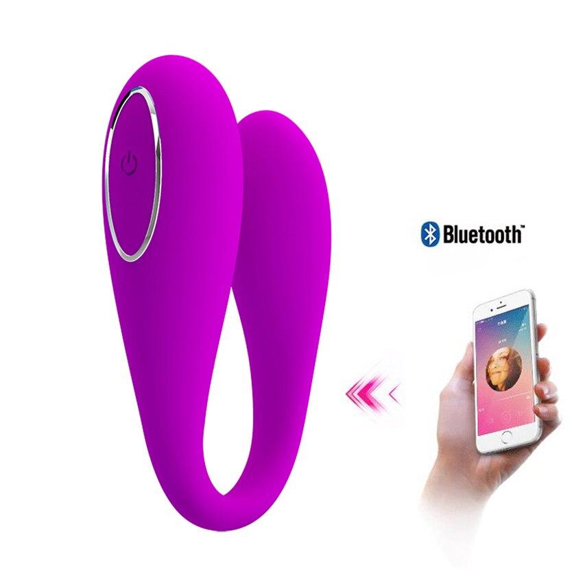 Bluetooth APP télécommande vibrateur G Spot clitoris vibrateur, nous Strapon Couple jouets ambiance vibrateurs jouets sexuels pour femme Vibrador