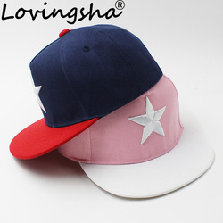 LOVINGSHA 3-8 Years Old Kid Boy Baseball Caps Snapback Caps Fashion Design High Quality Adjustable Caps For Girl ACC073