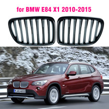 Frente gloss preto rim esporte grelhas capô grill para bmw e84 x1 2010 2011 2012 2013 2014 2015 estilo do carro