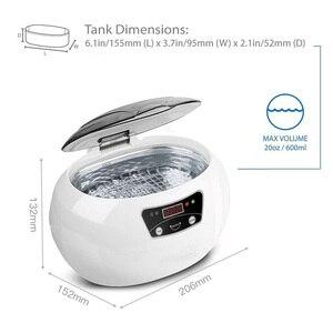 Image 5 - Skymen 600ml ultra sonic cleaner manicure ferramentas de limpeza sônica jóias óculos dentura casa ultra som banho máquina lavar roupa