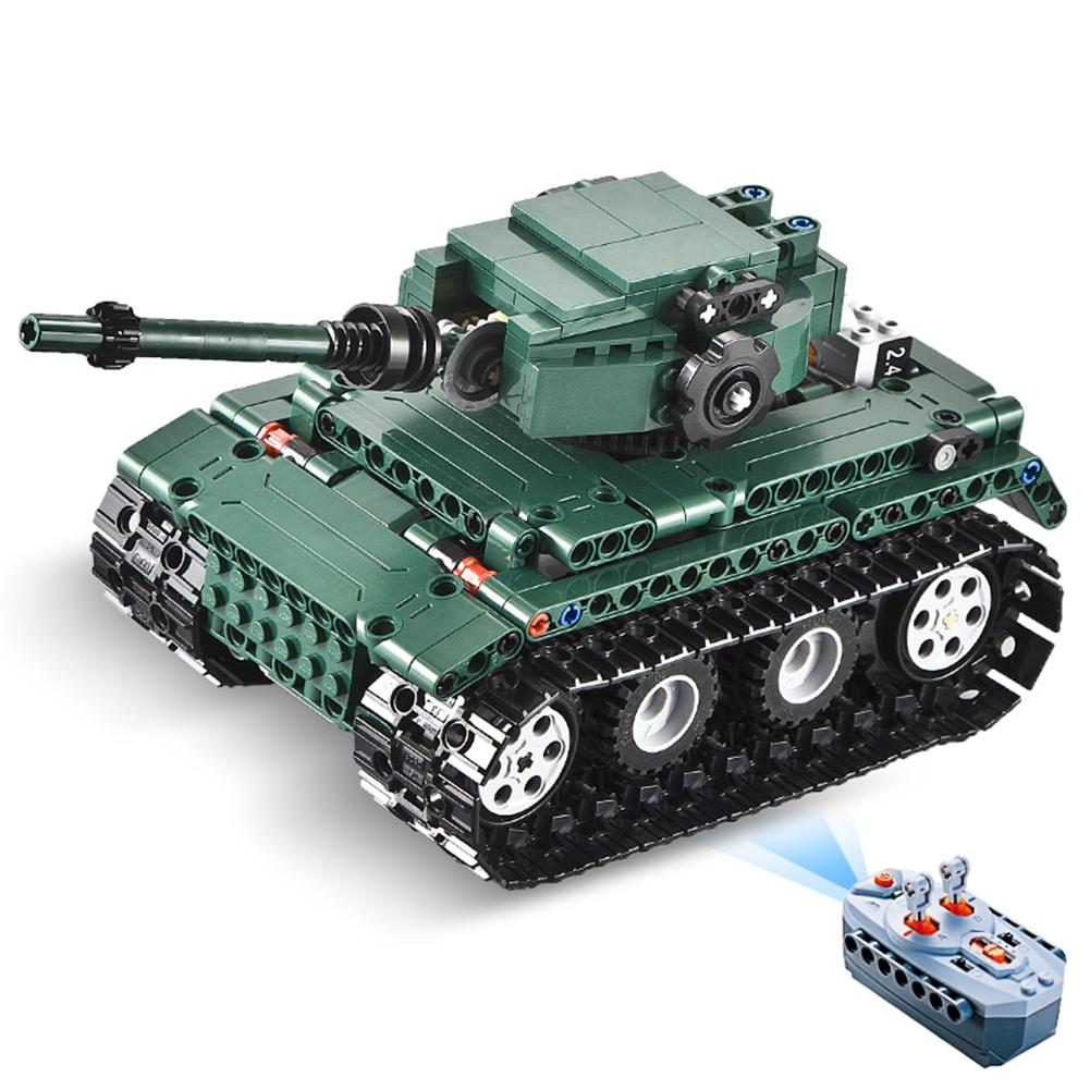 2.4G RC Tank Military Soldier Weapon Building Block Puzzle Toy High Torque Power Pack Structural Stability Children Kid Gift