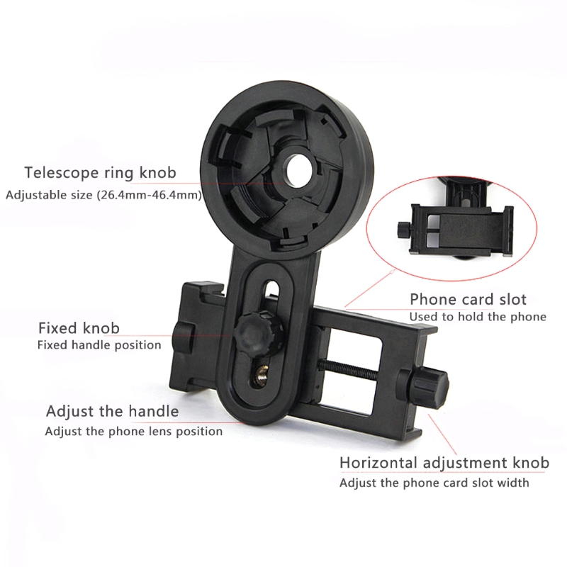 Optical Monocular Telescope Universal Holder Adapter Clip Mount Bracket For Width 5.5-9cm Mobile Smart Phone