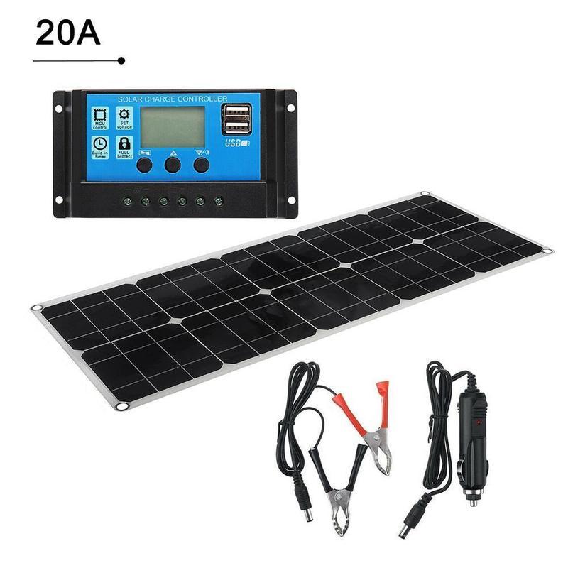 Painel solar 100w duplo usb 18v 5v
