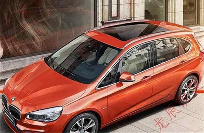 ل BMW F45 2 سلسلة نشط السيارة السياحية 2014-2021 أرفف لسقف السيارة رف أمتعة بار عالية الجودة سبائك الألومنيوم تعديل اكسسوارات