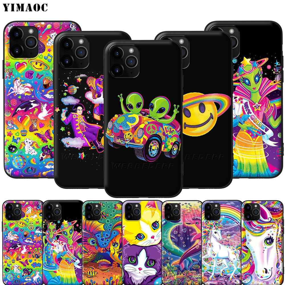 YIMAOC Lisa Frank miękki futerał silikonowy do iPhone 12 Mini 11 Pro XS Max XR X 8 7 6 6S Plus 5 5S SE