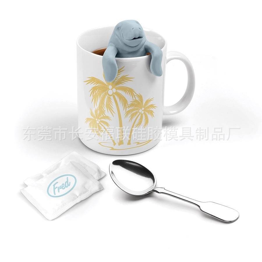 [Manufacturers Supply Of Goods] Silicone Product Silica Gel Tea Hold Tea Strainer Manatee Tea Making Device Cross Border Hot Sal