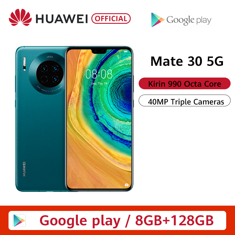 Original Huawei Mate 30 5G Version 8GB 128GB 256GB Kirin 990 Smartphone 40MP Triple Cameras 24MP Front Camera 6.62'' Inch|Cellphones| |  - title=