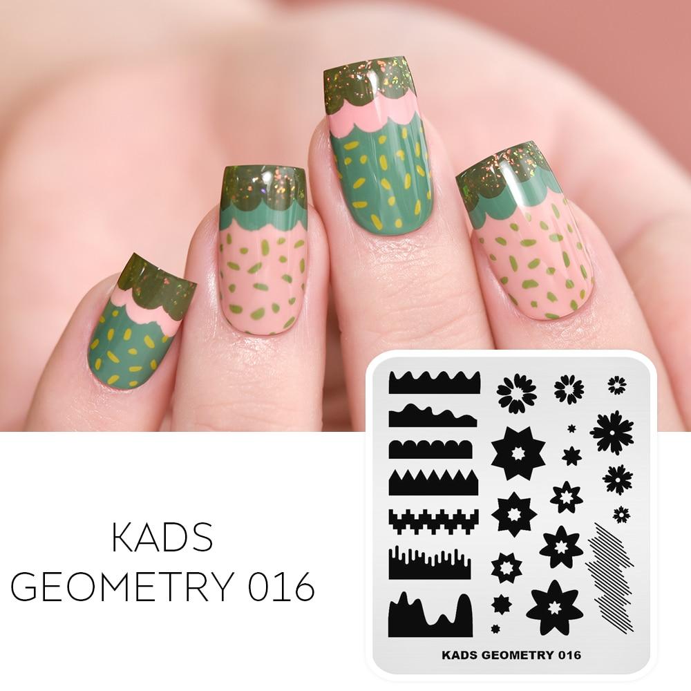 KADS Stamping Spring Flower Nail Stamping Plates Nail Art Image Stamp Template Stmaping Plate Geometry DIY Tools Nail Art Stamp
