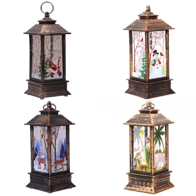 Christmas LED Lantern Light Flames Glowing Candle Lamp New Year Home Party Decor Energy Saving And Environmental Protection