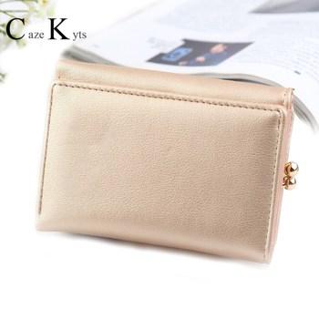 Caze Kyts Short wallet ladies small wallet Korean version coin purse multi-card bit tri-fold wallet women personalized purses недорого