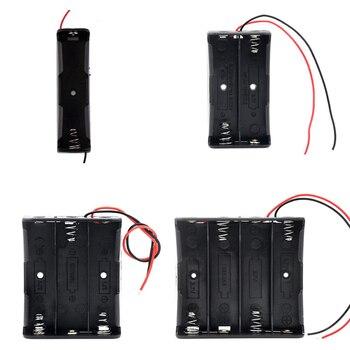 Новый черный пластик 1x2x3x4x18650 ящик для хранения батарей 1 2 3 4 слота способ DIY зажим для батарей держатель Контейнер с проводом