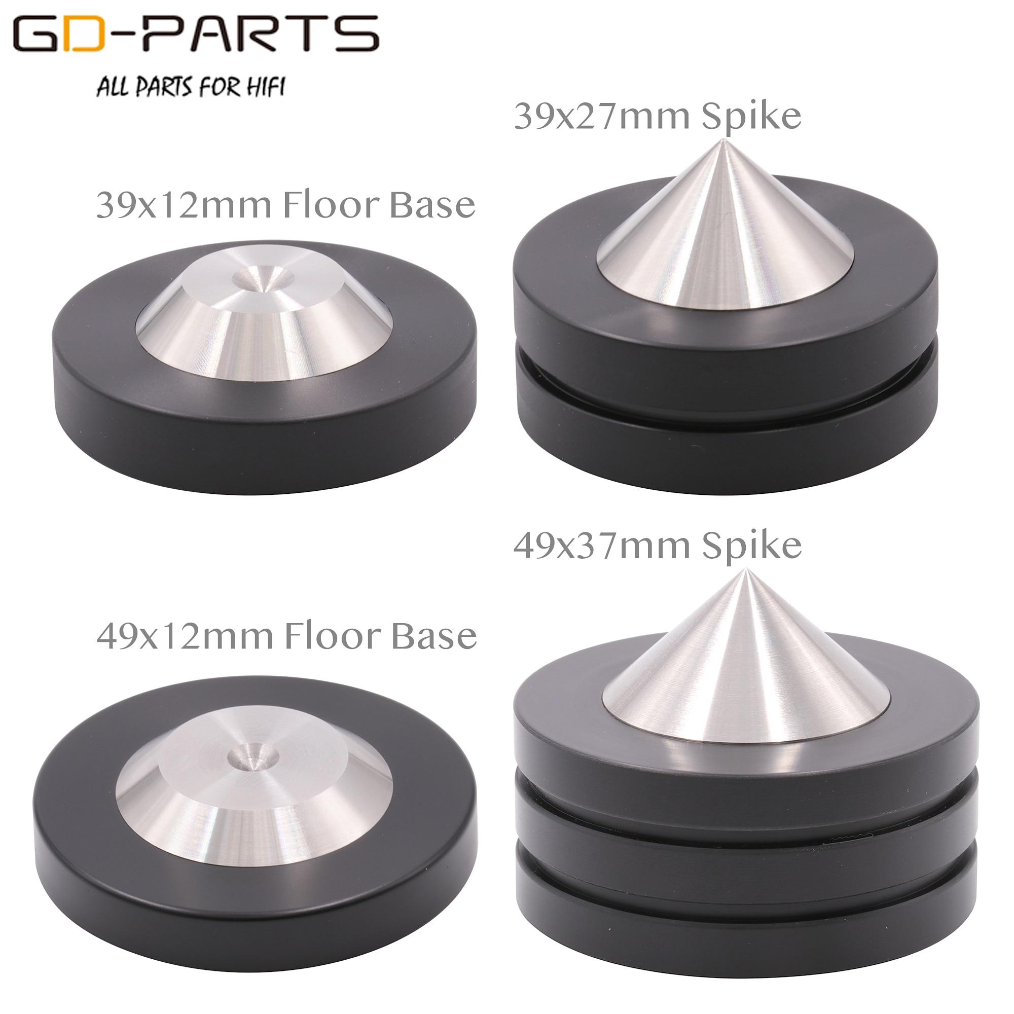 39mm 49mm*12mm 304 Stainless Steel Graphite Speaker AMP Isolation Spike Pad Preamp DAC LP CD Mat Floor Base HIFI AUDIO DIY 4PCS