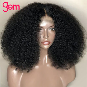 Image 3 - Afro Kinky Curly Wig Lace Front Human Hair Wig For Women Mongolian Remy Hair 30 Inch 13x 1 x6 T Transparent HD Lace Frontal Wig
