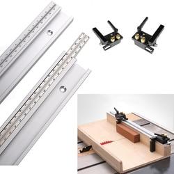 600/800 Millimetri Standard di Alluminio T-Track 45 Millimetri di Larghezza con Metrica Bilancia Lavorazione Del Legno Strumento Fai da Te