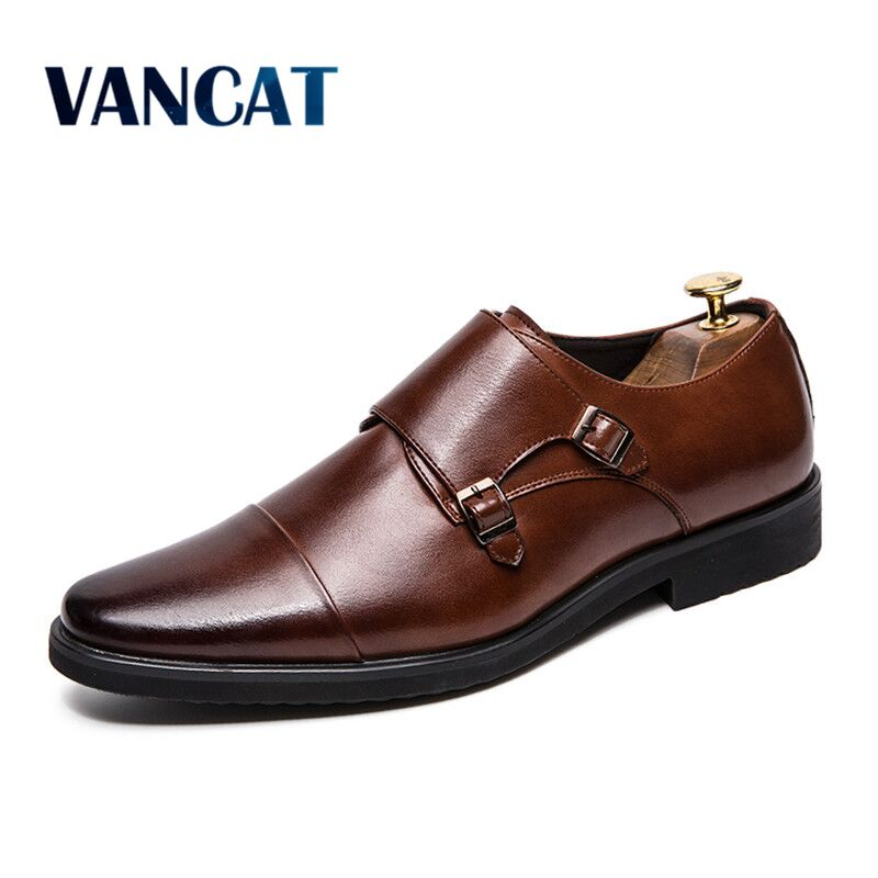 2019 Fashion Formal Men Shoes High Quality Breathable Leather Men Business Shoe Dress Shoes Loafers Oxford Shoes Big Size 38-48