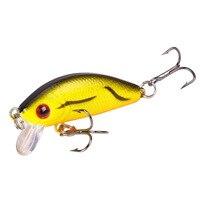 1PCS Minnow Fishing Lure 50mm4.2g Topwater Hard Bait Wobbler Jig Bait Crankbait Carp Striped bass Pesca Fishing tackle SwimBait