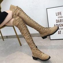 Женские длинные ботинки 2019 черные сапоги выше колен
