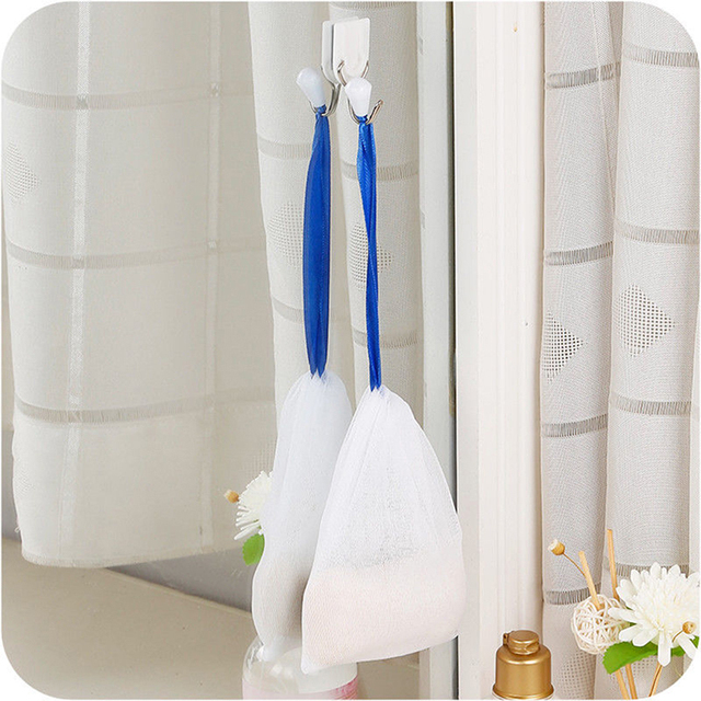 10pcs Facial Cleanser Manual Foaming Net Bag Wash Face Soap Liquid Soap Whipped Mousse Bath Shower Blister Foaming Net 3