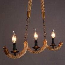 Скандинавский винтажный подвесной светильник в промышленном
