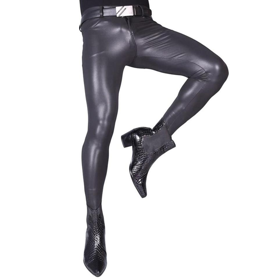 LinvMe Mens Transparent Soft Long Pants Slim Legging Tights