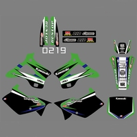 motorcycle accessories For KAWASAKI KX125 KX250 1994-1998 Graphics Decals Stickers Custom Number Name 3M Full  Motorcycle Backgrounds Accessories (1)