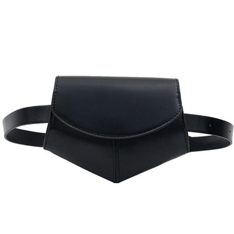 Women Travel Fanny Pack Fashion PU Leather Belt Waist Wallet Bag Pouch Shoulder Purse  Female Chest  Travelling Mobile Bum Bag