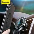 Baseus магнитный беспроводной Автомобильный Держатель зарядного устройства для iPhone X 8 8Plus Магнитный Автомобильный держатель для телефона бес...