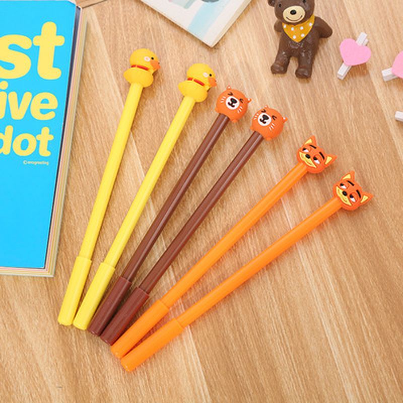 1PCS Duckling Gel Pen 0.5MM  Cute Pens Novelty Stationery Kawaii Pen Student Cartoon Cute Signature Pens Kawaii School Supplies