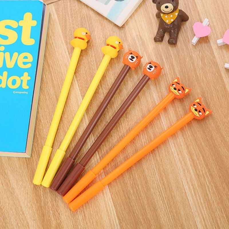 1PCS Duckling Gel Pen 0.5MM  Cute Pens Novelty Stationery Kawaii Pen Student Cartoon Cute Signature Pens Kawaii School Supplies
