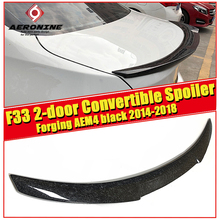 F33 2-doors Convertible tail Rear Spoiler Wing AEM4 Style Forging Carbon For 4 series F32 420i 430i 430iGC 440i 14+