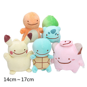 5 Styles Pokemon Ditto cosplay Pikachu Squirtle Bulbasaur Charmander Clefairy Plush Doll Stuffed Animal Dolls(China)