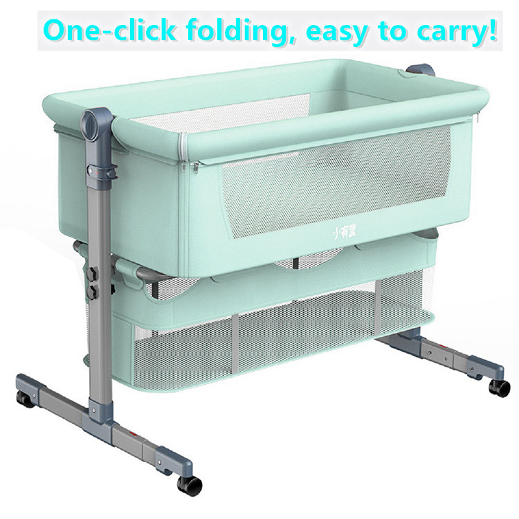 Baby Bed Can Be Spliced And Movable Folding Portable Bionic Baby Cradle Bed  0-3 Years Old