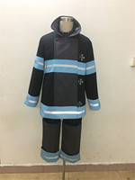2019 Anime Fire Force Uniform Shinra Kusakabe Cosplay Costume Enn Enn No Shouboutai team Outfit Adult Halloween Masquerade Sets