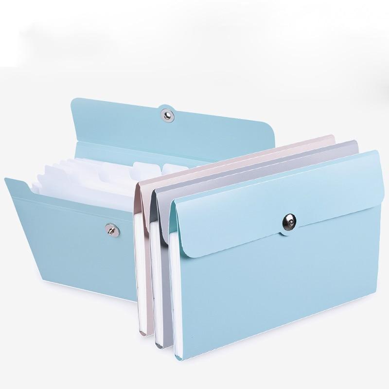 Deli 1pcs File Folder Organ Box Bag Multi-function Organizer Storage Holder Office Document A5 Supplies Paper Folder Finishing
