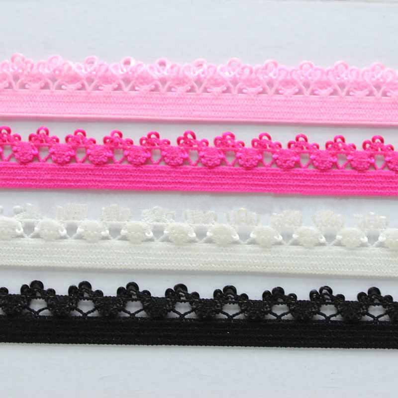 Эластичная кружевная лента для нижнего белья, 8 ярдов