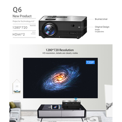 Q6 Smart Android Wireless Portable Mini Projector Full-HD 1280x720P Proyector Beamer Home Theater EU Plug