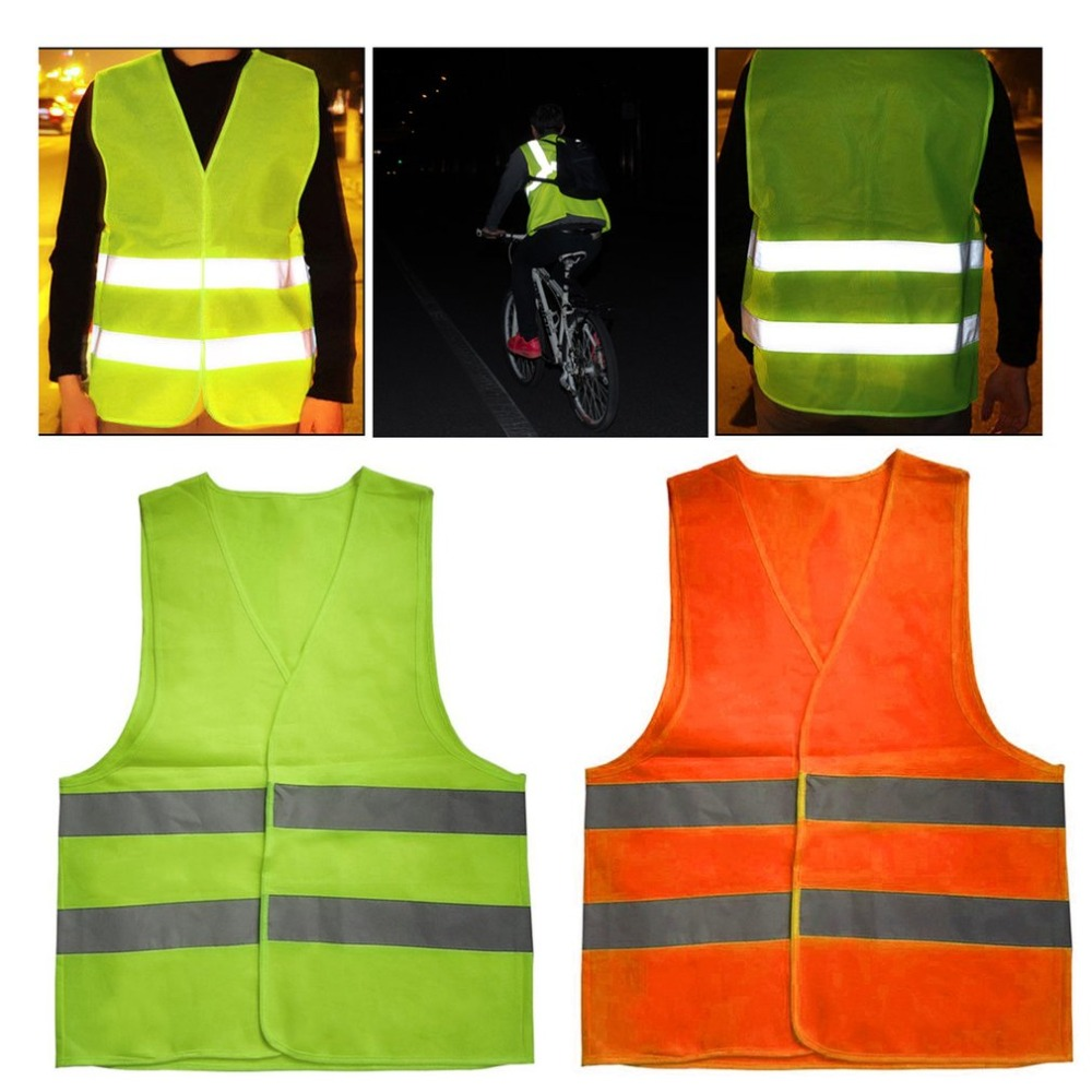 Reflective Warning Vest Working Clothes High Visibility Day Night Protective Vest For Running Cycling  Warning Safety Vest