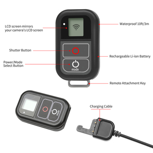 Image 2 - SHOOTสำหรับGoPro 8 7 WiFiรีโมทคอนโทรลสำหรับGoPro HERO 8 7 6 5 สีดำกันน้ำRemoterสำหรับgo Pro HERO 7 6 5 อุปกรณ์เสริม