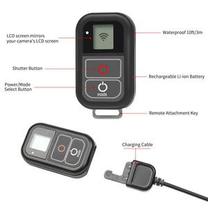 Image 2 - SHOOT جهاز تحكم عن بعد WiFi لكاميرا GoPro ، حامل جهاز تحكم عن بعد لـ GoPro 8 7 6 5 ، مقاوم للماء ، أسود ، ملحقات