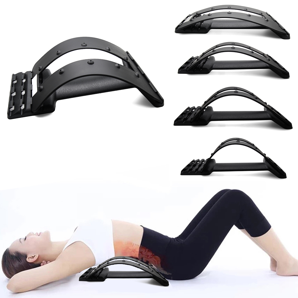Back Massager Stretcher Equipment Stretcher Support Massage Lumbar Fitness Relaxation Spine Pain Relief Back Stretcher Tools|Braces & Supports| - AliExpress