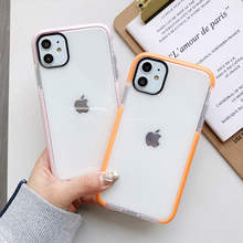 For iPhone 12 Pro Case Solid Color Clear Phone Case For iPhone 12 11 Pro Max XR XS Max 7 8 Plus Soft TPU Shockproof Phone Cover