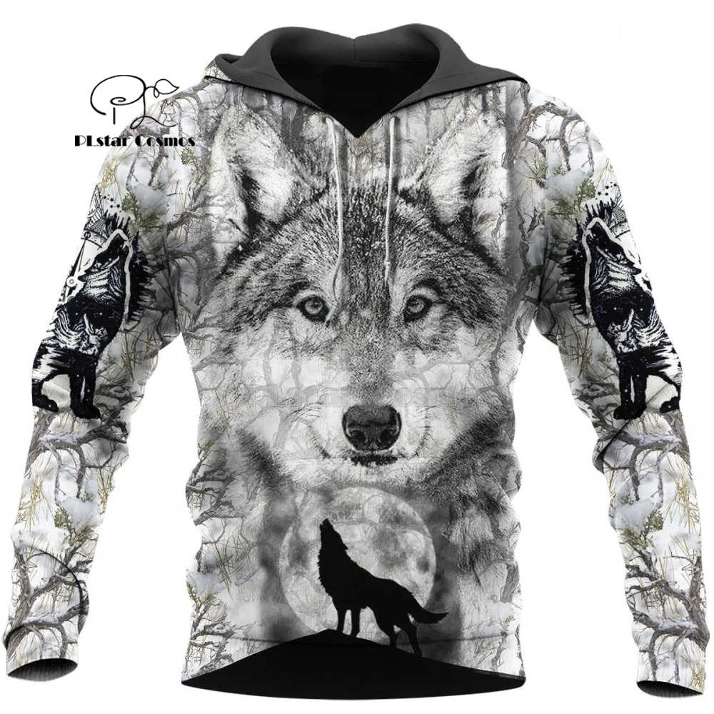 Wolf sweats à capuche imprimés hommes 3d sweats à capuche marque sweats vestes qualité pull mode survêtements Animal Streetwear Out Coat-12